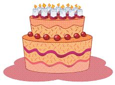 birthday-cake for my blog